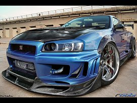 Nissan Skyline tunning wallpaper